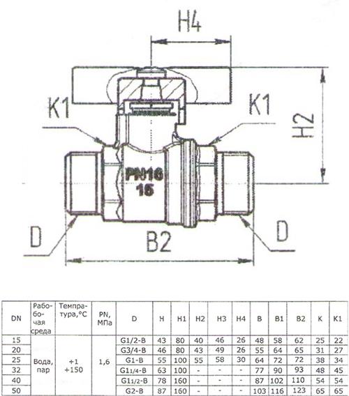 Габаритные и присоединительные размеры крана 11Б27П1 А32/1 (БАЗ)